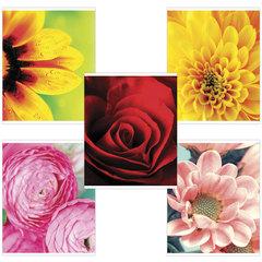 """Тетрадь 48 листов, клетка, обложка мелованный картон, блок офсет белый, """"Яркие цветы"""", BRAUBERG"""