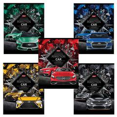 """Тетрадь А5, 48 л., HATBER, скоба, клетка, 3D фольга, 3D лак, """"PERFECTION CAR"""" (5 видов в спайк), 48Т5лофлВ1"""