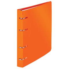 "Тетрадь на кольцах 120 л., BRAUBERG, А5, 160х205 мм, клетка, обложка пластик, ""Оранжевый"""