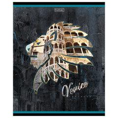 "Тетрадь, А5, 96 л., HATBER, скоба, клетка, обложка картон, ""Венеция"" (1 вид), 96Т5В1_20097"