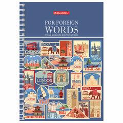 Тетрадь-словарик А5 48 л. BRAUBERG для записи иностранных слов, гребень, клетка, 403563