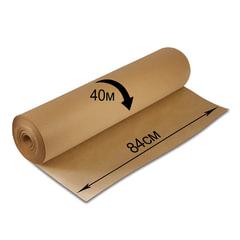 Крафт-бумага в рулоне, 840 мм х 40 м, плотность 78 г/м2, BRAUBERG