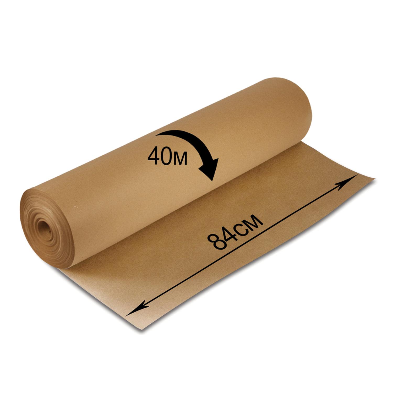 Крафт-бумага для упаковки, 840 мм х 40 м, 78 г/м2, в рулоне, BRAUBERG