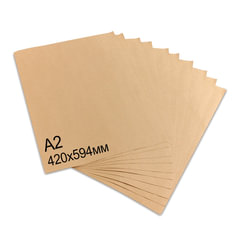 Крафт-бумага в листах А2, 420 х 594 мм, плотность 78 г/м2, 100 листов, BRAUBERG