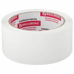 Клейкая лента упаковочная 48 мм х 66 м, БЕЛАЯ, толщина 45 микрон, BRAUBERG, 440158