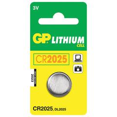 Батарейка GP Lithium, CR2025, литиевая, 1 шт., в блистере
