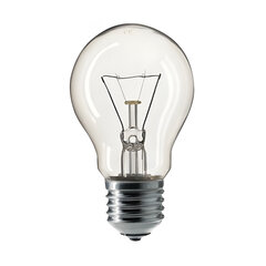 Лампа накаливания PHILIPS A55 CL E27, 60 Вт, грушевидная, прозрачная, колба d = 55 мм, цоколь E27