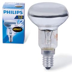 Лампа накаливания PHILIPS Spot R50 E14 30D, 60 Вт, зеркальная, колба d = 50 мм, цоколь E14, угол 30°