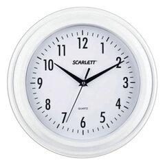 Часы настенные SCARLETT SC-55QG круг, белые, белая рамка, плавный ход, 30,5х30,5х4,3 см