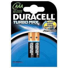 Батарейки DURACELL Turbo AAA LR3, комплект 2 шт., блистер, 1,5 В (самые мощные щелочные батарейки)