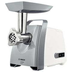 Мясорубка BOSCH MFW45020, мощность 1600 Вт, производительность 2,7 кг/мин, металлический шнек, реверс, пластик, белая/серая