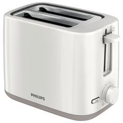 Тостер PHILIPS HD2595/00, мощность 800 Вт, 2 тоста, механическое управление, разморозка, подогрев, пластик