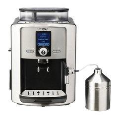 Кофемашина KRUPS EA8050, 1450 Вт, объем 1,8 л, емкость для зерен 275 г, автокапучинатор, серебристая