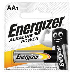 Батарейка ENERGIZER Alkaline Power, AA (LR06, 15А), алкалиновая, пальчиковая,1 шт., в блистере (отрывной блок)