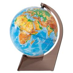 Глобус физический, диаметр 210 мм, рельефный