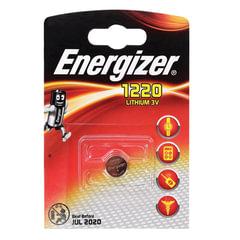 Батарейка ENERGIZER CR 1220, литиевая, d=12 мм, h=2,0 мм, в блистере (1 шт.), 3 В