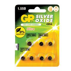 Батарейки GP Silver oxide, комплект 7 шт. (392/384 1 шт., 364/363 2 шт., 377/376 4 шт.), в блистере