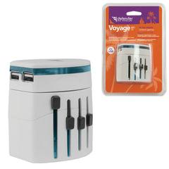 Зарядное устройство сетевое универсальное (100-240 В) DEFENDER Voyage Epc-21, 5 V/2,1 А, белое