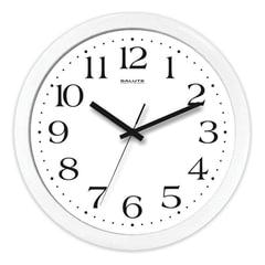 Часы настенные САЛЮТ П-Б7-015, круг, белые, белая рамка, 28х28х4 см