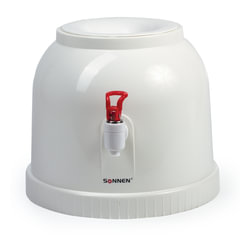 Кулер для воды SONNEN TS-01, настольный, без нагрева и охлаждения, водораздатчик,1 кран, белый