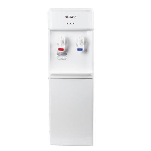Кулер для воды SONNEN FS-01, напольный, нагрев/электронное охлаждение, 2 крана, белый