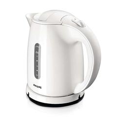Чайник PHILIPS HD4646/00, закрытый нагревательный элемент, объем 1,5 л, мощность 2400 Вт, пластик, белый