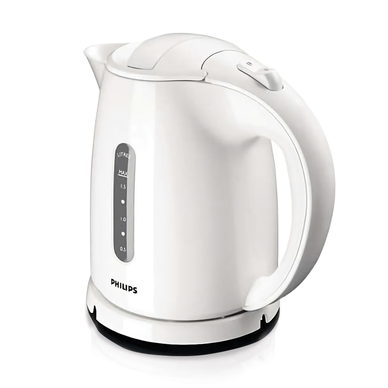 Чайник PHILIPS HD4646/00, 1,5 л, 2400 Вт, закрытый нагревательный элемент, пластик, белый