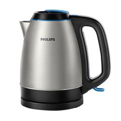Чайник PHILIPS HD9302/21, закрытый нагревательный элемент, объем 1,5 л, мощность 2200 Вт, сталь, серебристый