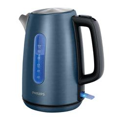 Чайник PHILIPS HD9358/11, закрытый нагревательный элемент, объем 1,7 л, мощность 2200 Вт, сталь, подсветка, синий