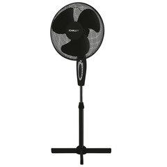 Вентилятор напольный SCARLETT SC- SF111B03, d=40 см, 45 Вт, 3 скоростных режима, подсветка, черный