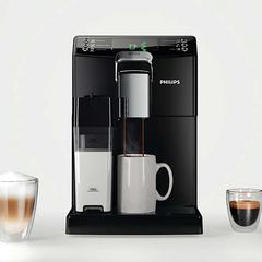 Кофемашина PHILIPS HD8848/09, 1850 Вт, объем 1,8 л, емкость для зерен 250 г, автокапучинатор, черная