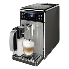 Кофемашина PHILIPS SAECO HD8975/01, 1,7 л, 1900 Вт, 15 бар, емкость для зерен 270 г, авто капучинатор, серебристая