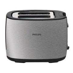 Тостер PHILIPS HD2658/20, 950 Вт, 2 тоста, 7 режимов, подогрев, разморозка, металл, серебристый