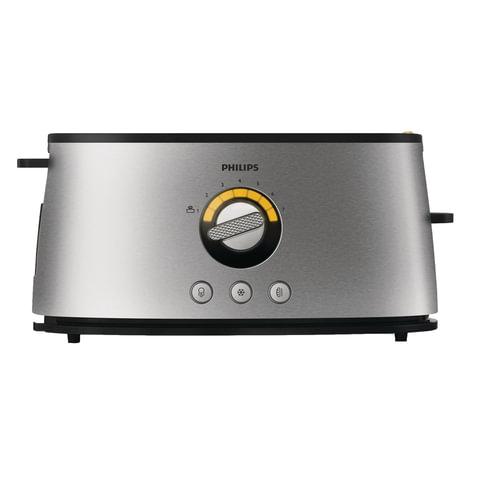 Тостер PHILIPS HD2698/00, 1200 Вт, 2 тоста, 1 отделение, 7 режимов, подогрев, разморозка, металл