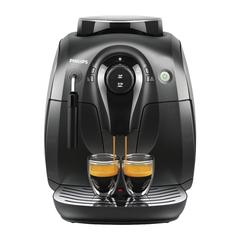 Кофемашина PHILIPS HD8649/01, 1400 Вт, 15 бар, объем 1 л, емкость для зерен 180 г, капучинатор, пластик, черная