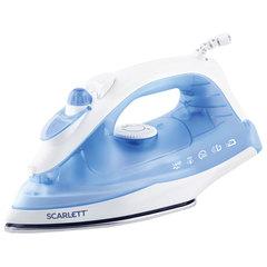 Утюг SCARLETT SC-SI30S01, 1600 Вт, поверхность нержавеющая сталь, самоочистка, синий