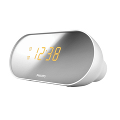 Часы-радиобудильник PHILIPS AJ2000/12, зеркальный дисплей, FM-диапазон, 2 сигнала, белый