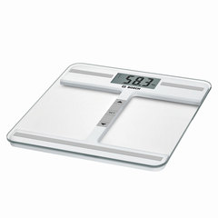 Весы напольные BOSCH PPW4212, электронные, вес до 180 кг, квадратные, стекло, белые