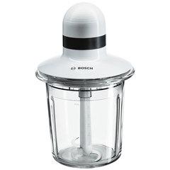 Измельчитель BOSCH MMR15A1, 550 Вт, импульсный режим, чаша 1,5 л, материал пластик, белый