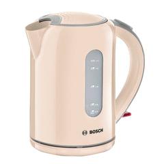 Чайник BOSCH TWK7607, 1,7 л, 2200 Вт, закрытый нагревательный элемент, пластик, бежевый
