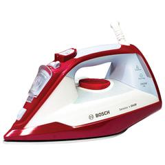 Утюг BOSCH TDA3024010, 2400 Вт, терморегулятор, керамическая поверхность, самоочистка, красный