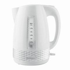 Чайник SCARLETT SC-EK18P35, 2 л, 2200 Вт, закрытый нагревательный элемент, пластик, белый