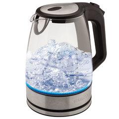 Чайник SCARLETT SC-EK27G20, 1,8 л, 2200 Вт, закрытый нагревательный элемент, стекло, черный
