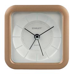Часы-будильник SCARLETT SC-AC1007S, повтор сигнала, электронный сигнал, пластик, бежевые