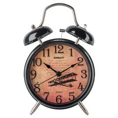 Часы-будильник SCARLETT SC-AC1009B, повтор сигнала, механический сигнал, пластик/металл, черные