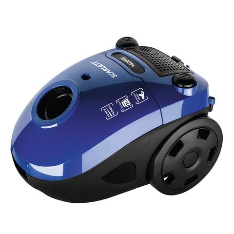 Пылесос SCARLETT SC-VC80B08 с пылесборником, 1400 Вт, мощность всасывания 250 Вт, синий