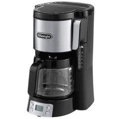 Кофеварка капельная DELONGHI ICM 15250, 1000 Вт, объем 1 л, автоотключение, подогрев, черная