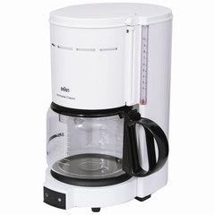 Кофеварка капельная BRAUN KF47/1, 1000 Вт, объем 1,3 л, автоотключение, белая