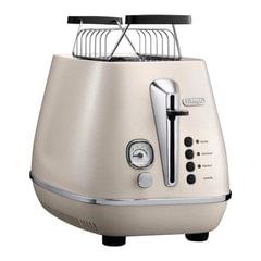 Тостер DELONGHI CTI2103.W, 900 Вт, 2 тоста, разморозка, подогрев, решетка для булочек, белый
