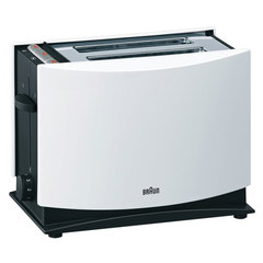 Тостер BRAUN HT400 WH, 1080 Вт, 2 тоста, 7 режимов, разморозка, подогрев, белый